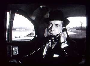 Picture of Humphrey Bogart on the phone